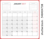 calendar planner for january... | Shutterstock .eps vector #548404738
