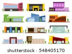 a set of small and medium sized ... | Shutterstock .eps vector #548405170