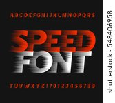 speed alphabet font. wind...