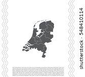 vector map netherland country | Shutterstock .eps vector #548410114
