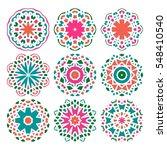 Set Of Vector Mandala Ornament...