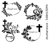 obituary notice   art deco... | Shutterstock .eps vector #548415094