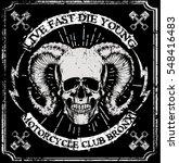 skull t shirt graphic design   Shutterstock .eps vector #548416483