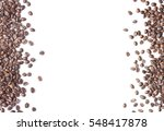 white background with coffee... | Shutterstock . vector #548417878