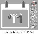 arrest calendar day pictograph...   Shutterstock .eps vector #548419660