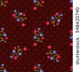seamless sweet pattern of small ... | Shutterstock .eps vector #548420740