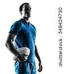 Rugby Man Player Silhouette...