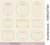 vector set of vintage frames | Shutterstock .eps vector #548424760