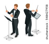 kapellmeister or orchestra... | Shutterstock .eps vector #548427958