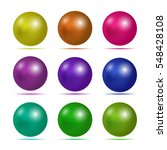 set of 3d button. matted icon... | Shutterstock .eps vector #548428108