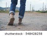 closeup of leg of engineers or... | Shutterstock . vector #548428258