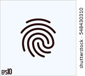 Fingerprint Icon.