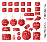 big winter sale  christmas sale ... | Shutterstock .eps vector #548433826