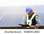 solar power engineering measure ... | Shutterstock . vector #548441383