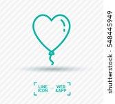 heart balloon isolated single... | Shutterstock .eps vector #548445949