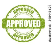approved green stamp with... | Shutterstock .eps vector #548449624