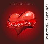 happy valentine's day love card ... | Shutterstock .eps vector #548450020
