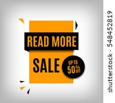 sale banner design. yellow... | Shutterstock .eps vector #548452819