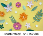 paper craft flower decoration... | Shutterstock . vector #548459908