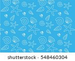 pattern with shells | Shutterstock . vector #548460304