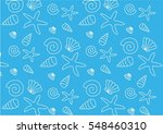 pattern with shells | Shutterstock .eps vector #548460310
