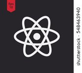 atom icon. simple flat style...   Shutterstock .eps vector #548463940