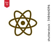 atom icon. simple flat style... | Shutterstock .eps vector #548464096