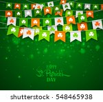 colorful festive bunting with... | Shutterstock .eps vector #548465938