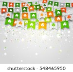 colorful festive bunting with... | Shutterstock .eps vector #548465950