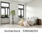 airy bright white bedroom... | Shutterstock . vector #548468203