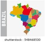 colorful brazil administrative...   Shutterstock .eps vector #548468530