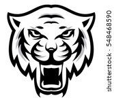 angry tiger sport mascot logo... | Shutterstock .eps vector #548468590
