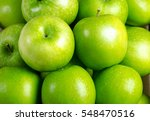 Close Up Apple Background Green ...