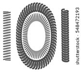 monochrome icon with springs | Shutterstock .eps vector #548472193
