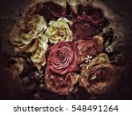 grunge flower background and...   Shutterstock . vector #548491264