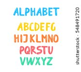 raster illustration.alphabet...   Shutterstock . vector #548491720
