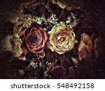 grunge flower background texture | Shutterstock . vector #548492158