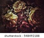 grunge flower background texture | Shutterstock . vector #548492188