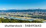 panoramic view of taipei city ... | Shutterstock . vector #548493643