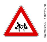 school children crossing sign ... | Shutterstock .eps vector #548494270