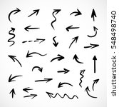 hand drawn arrows  vector set | Shutterstock .eps vector #548498740