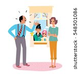 family relationship problem.... | Shutterstock .eps vector #548501086