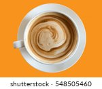 coffee cup isolated on orange... | Shutterstock . vector #548505460