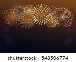 brightly colorful fireworks on...   Shutterstock .eps vector #548506774