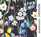 watercolor floral spring... | Shutterstock . vector #548508388