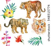 large hand drawn watercolor...   Shutterstock . vector #548515774