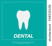 tooth icon flat design style.... | Shutterstock .eps vector #548520100