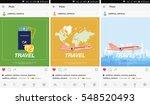 mobile application  passport... | Shutterstock .eps vector #548520493