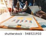 businessman making presentation ... | Shutterstock . vector #548521933