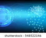 abstract digital and technology ... | Shutterstock .eps vector #548522146